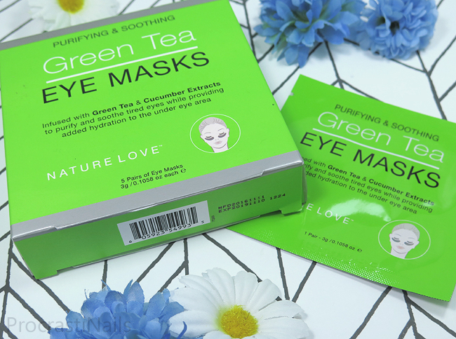 Nature Love Purifying & Soothing Green Tea Eye Masks