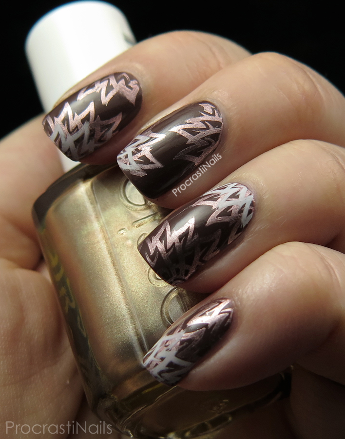 Double flower stamping nail art with Born Pretty Store plate BP-54