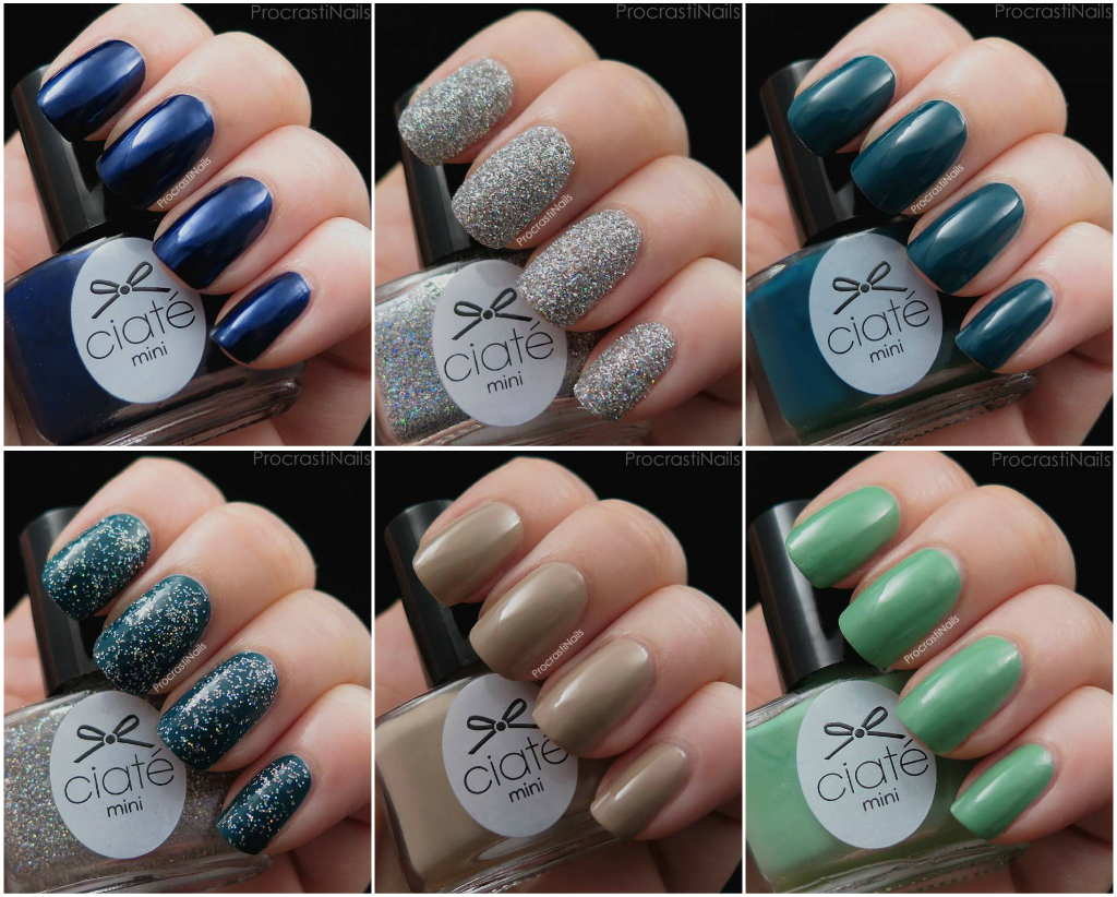 Swatches from week 3 of the 2014 Ciaté Mini Mani Manor Advent Calendar