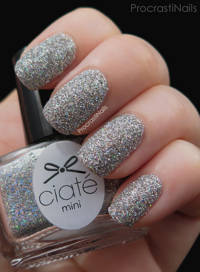 Swatch of Let It Snow loose glitter from the 2014 Ciaté Mini Mani Manor Advent Calendar