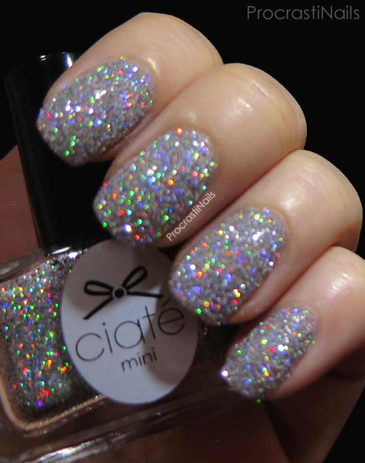 Swatch showing the holo of Let It Snow from the 2014 Ciaté Mini Mani Manor Advent Calendar
