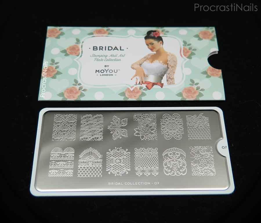 Picture of the MoYou London Bridal 07 XL Nail Art Stamping Plate