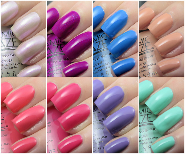 Swatches of the full Ceramic Glaze Limited Edition Botanical Oasis Collection