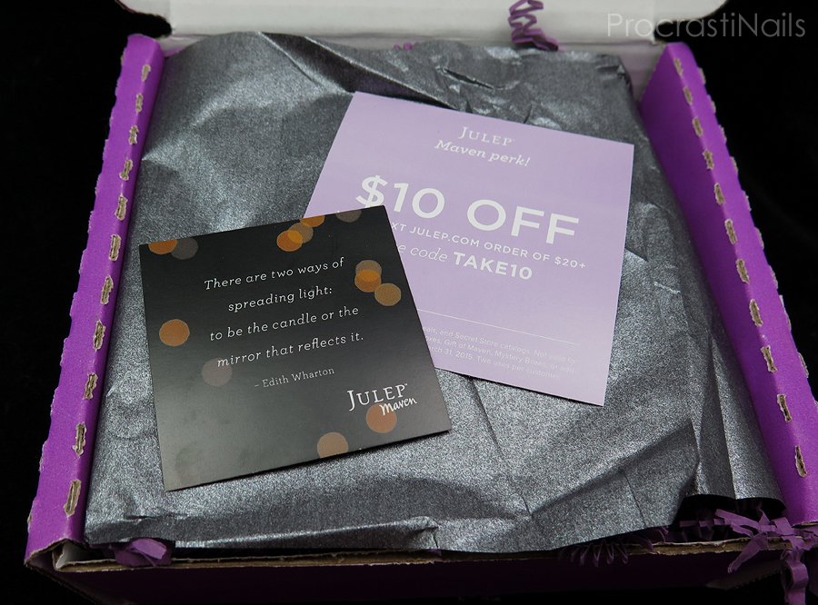 Unboxing of my February 2015 Julep Maven Box with quote and coupon code