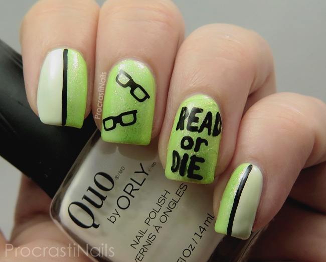 Read or Die nail art for School Librarian Day