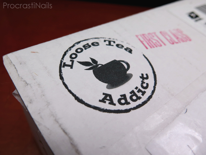 Picture of the Loose Tea Addict Subscription Box delivery box