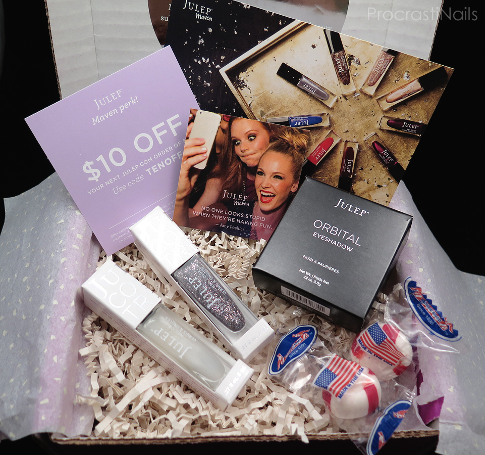 Unboxing of my Julep Maven 2014 Beauty Box with all products displayed