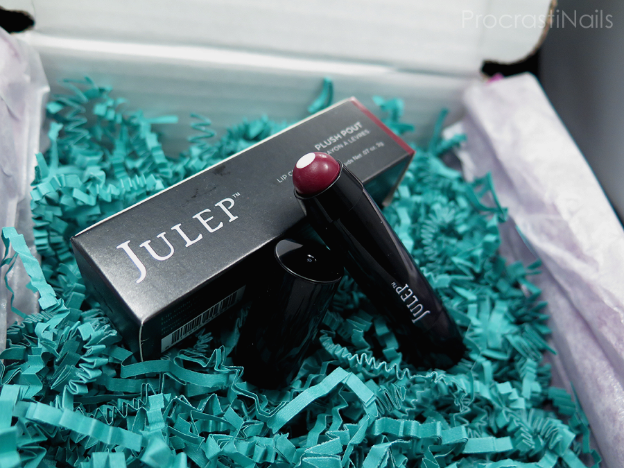January 2015 Julep Maven unboxing Plush Pout Lip Crayon in Magenta Plum