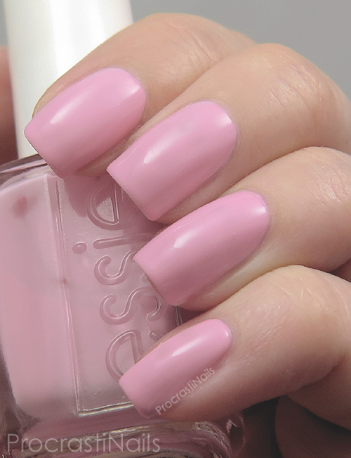 Swatch of a soft pink nail polish