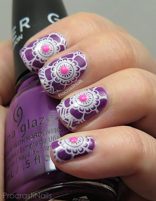 Bright stamping with China Glaze, MoYou London and Konad