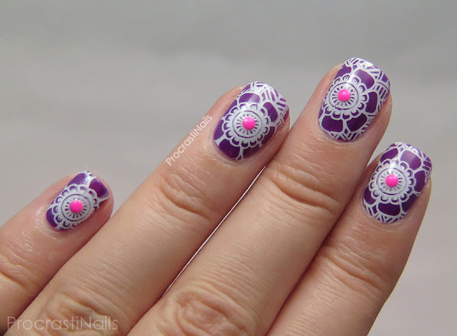 Stamping nail art with MoYou London Explorer Plate 03