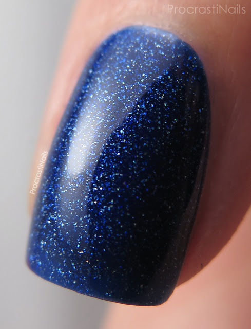 Macro of OPI Give Me Space from the Holiday 2015 Starlight Collection