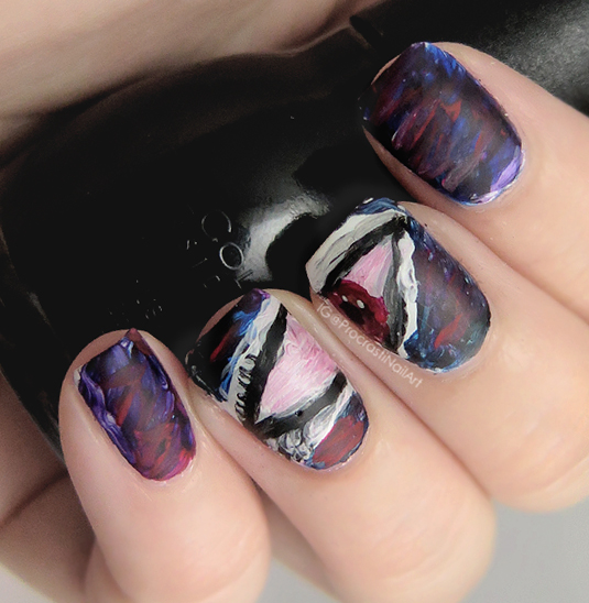 The Digital Dozen Does Vampy nail art day 1