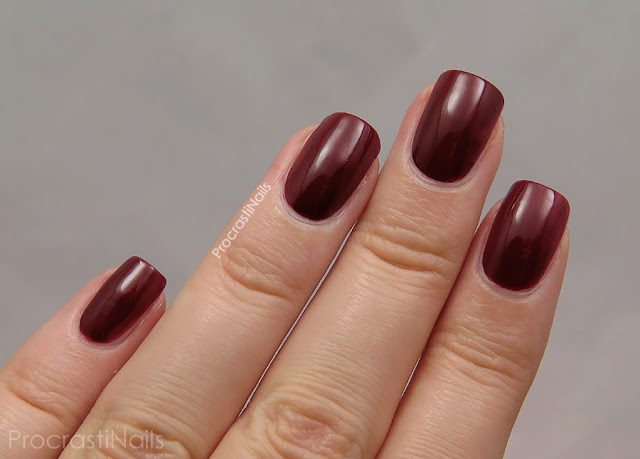 Swatch of Zoya Pepper which is a deep burnt pepper red
