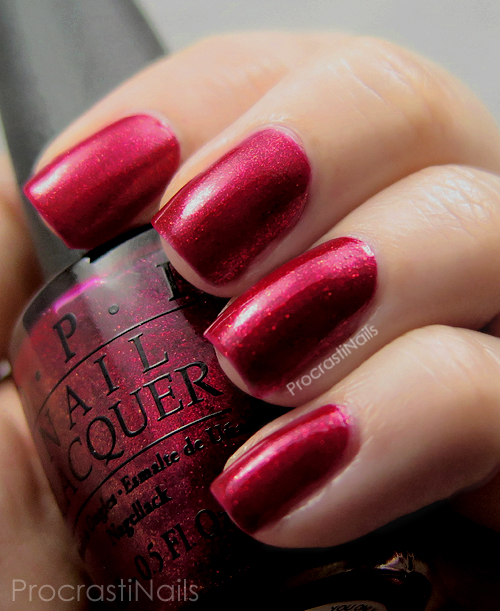 Swatch of OPI You Only Live Twice